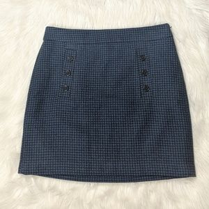 NWT Ann Taylor LOFT Tweed Skirt Size 8 Indigo Blue